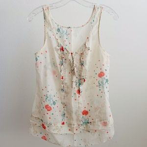 Juicy Couture Ruffle Front Sleeveless Top